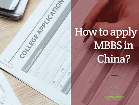 How to apply for MBBS in China?