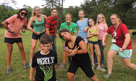 teambuilding activities and field games at Lutheran Summer Camp