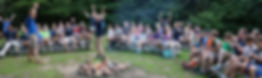 Campfire at Lutheran Christian Summer Camp in the Massanutten Mountains / Shenandoah Valley near Washington DC