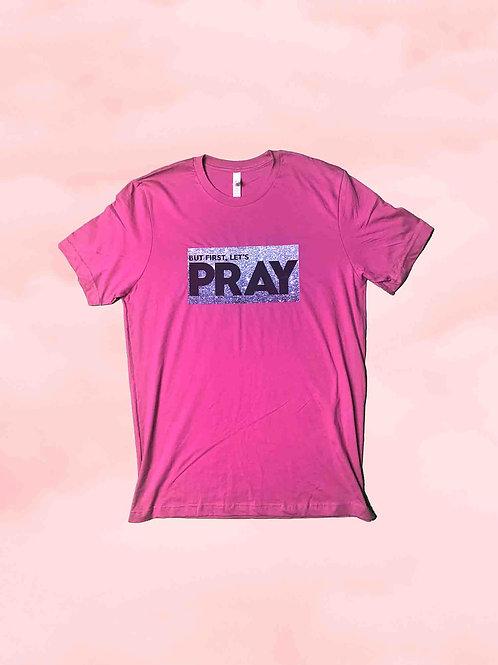 Let's Pray Tee - Berry