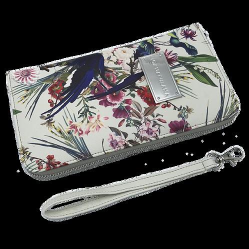 Treasure Garden Travel Wallet | Cool Grey