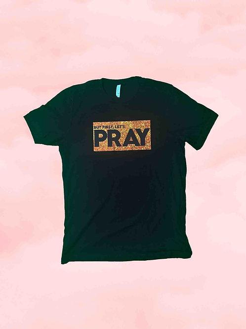 Let's Pray Tee - Black