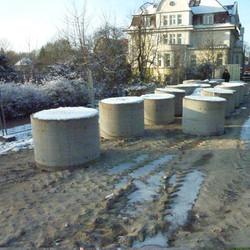 Neubrandenburg Moorbachbrücke- Bohrungen für Pfahlgründungen