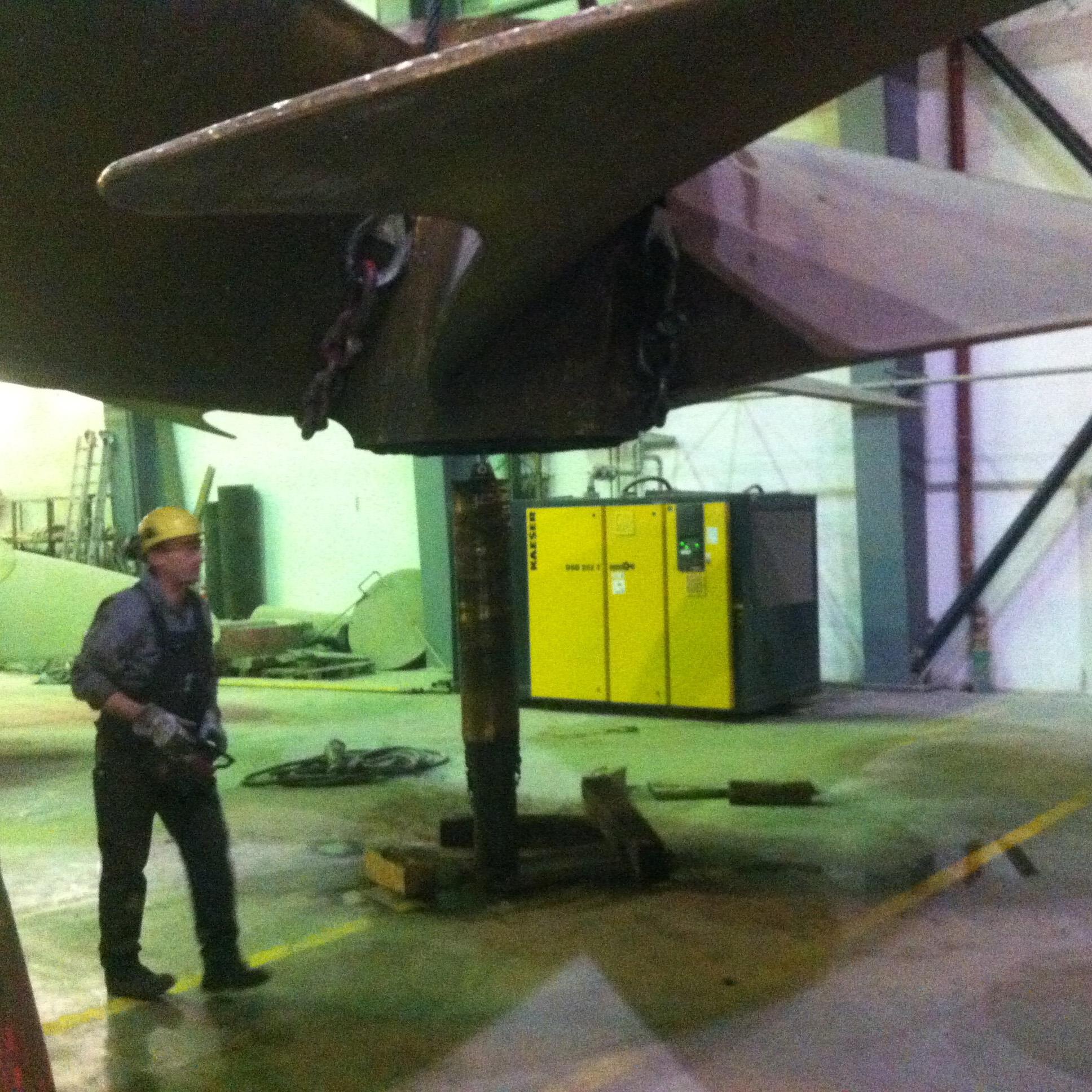 MMG Waren - Ausbohren einer Propellernarbe MMG Waren