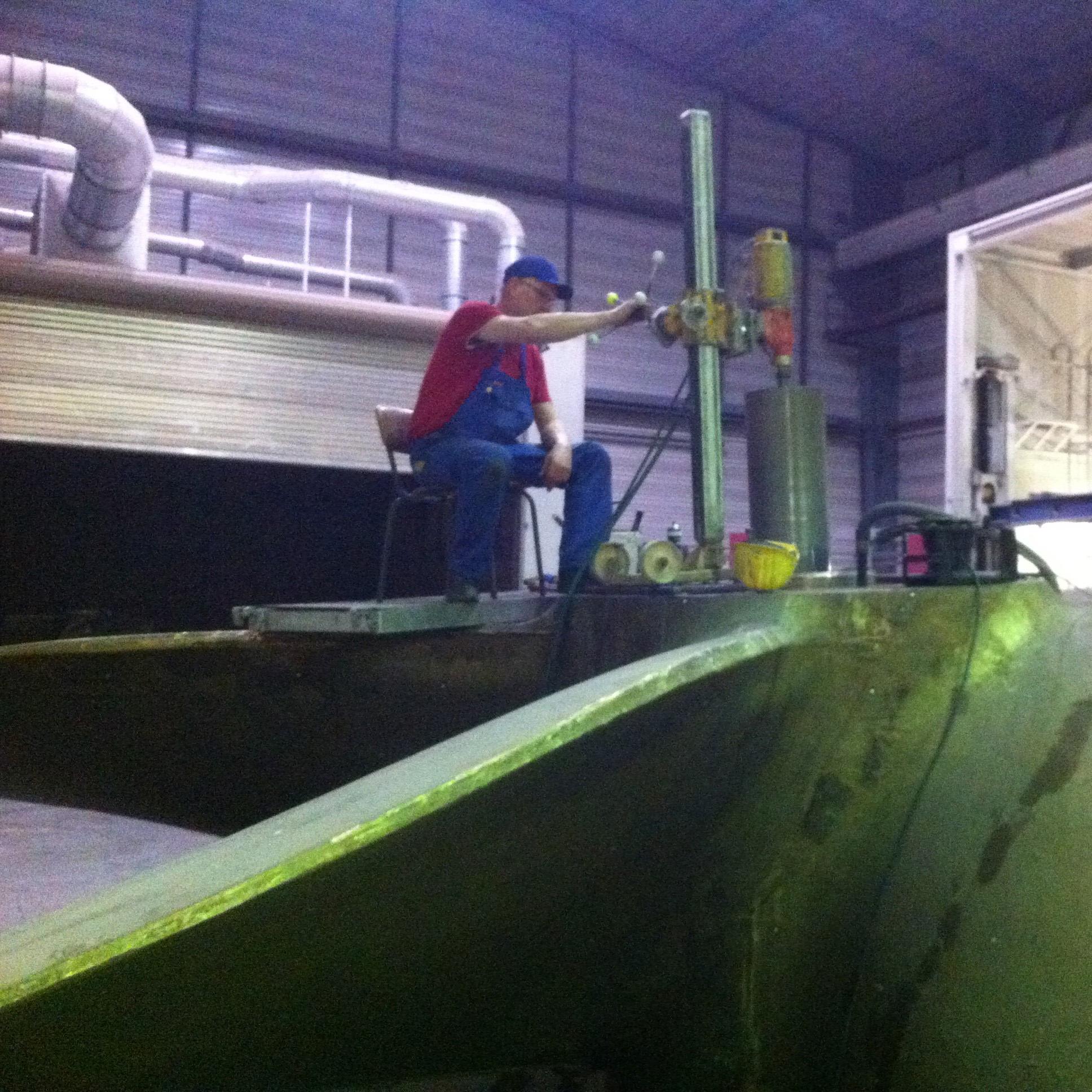 MMG Waren - Ausbohren einer Propellernarbe