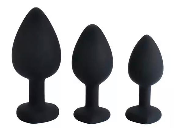 סט שלושה פלאגים בגדלים שונים