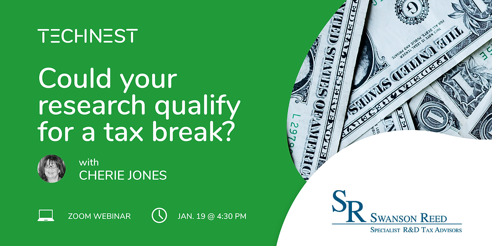 Could your Research Qualify for a Tax Break?