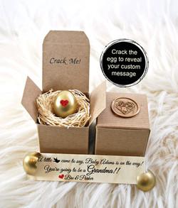 Golden Egg Pregnancy Announcement