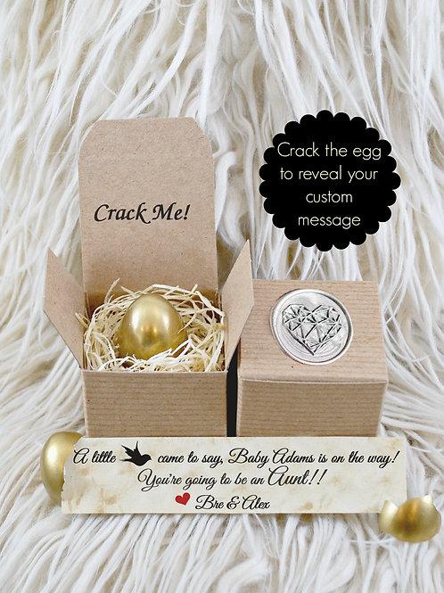 Golden Egg Pregnancy Reveal