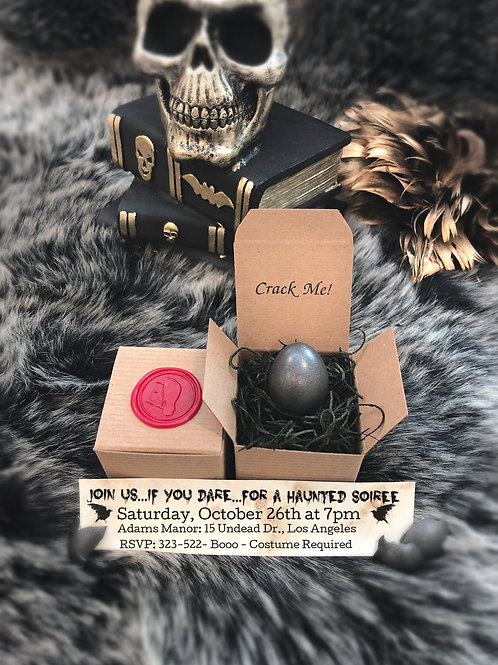 Halloween Invitations - Raven's Egg