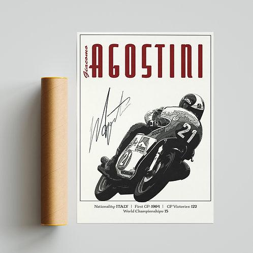 Giacomo Agostini Classic GP Print MotoGP TT