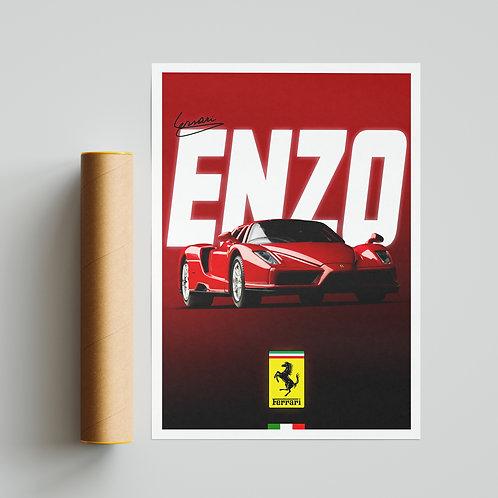 Ferrari Enzo Supercar Poster