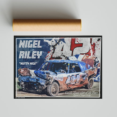 "421 ""Nutty"" Nigel Riley Banger Racing Poster"