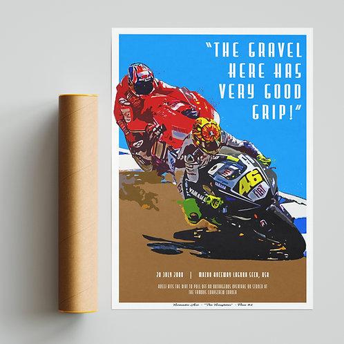 Valentino Rossi Casey Stoner Print MotoGP