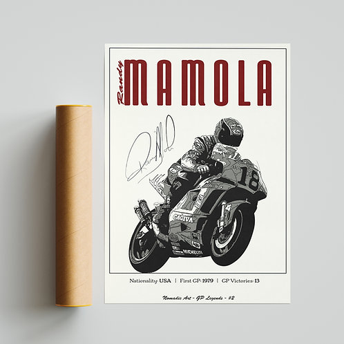 Randy Mamola Classic GP Print MotoGP TT