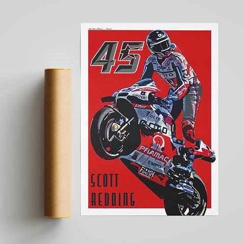 Scott Redding Ducati Print MotoGP