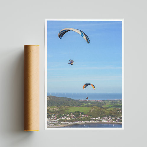 Conwy Valley Paraglider Print