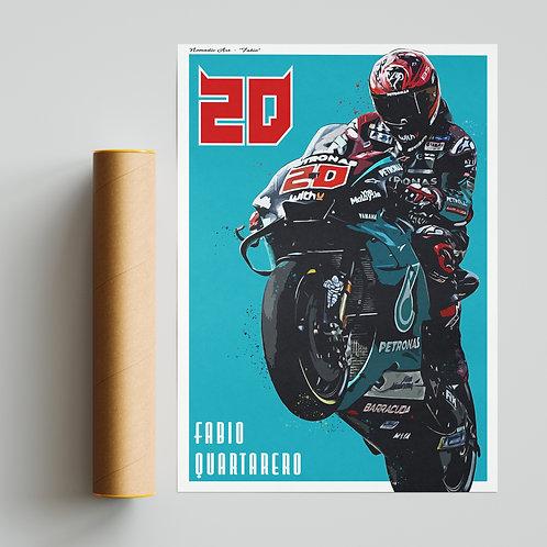 Fabio Quartararo Petronas Yamaha 500GP Print MotoGP