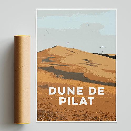 Dune de Pilat France Paragliding Site Print