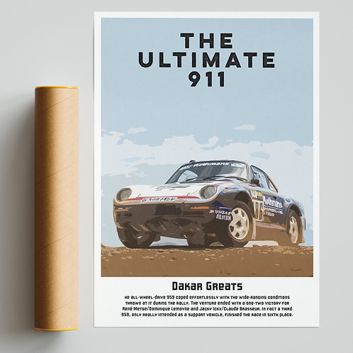 """The Ultimate 911"" Porsche 959 Dakar Rally Print"