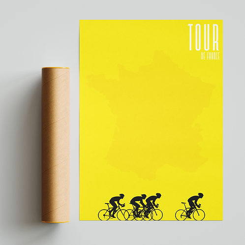Tour de France Yellow Pantone Print Cycling