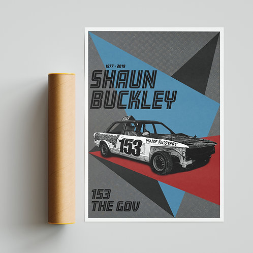 Shaun Buckley Banger Racing Tribute Poster