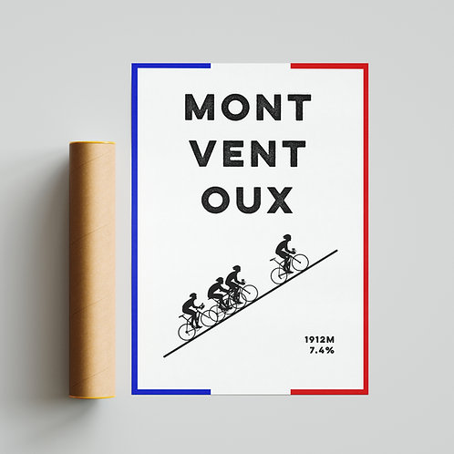 Le Mont Ventoux France Print Cycling