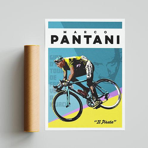 Marco Pantani Cycling Print
