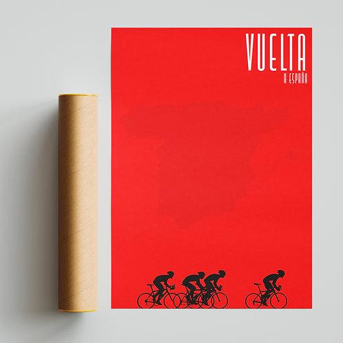 La Vuelta a Espana Red Pantone Print Cycling