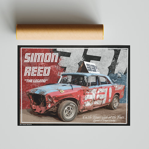 33 Simon Reed Banger Racing Poster Print - The Legend