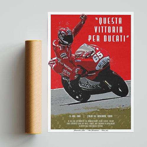 Loris Capirossi Ducati Print MotoGP