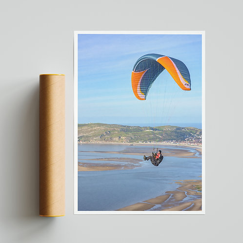 Conwy Paraglider Print