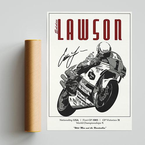 Eddie Lawson Classic 500GP Print MotoGP