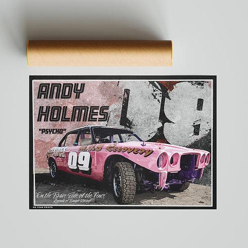 "09 Andy ""Psycho"" Holmes Banger Racing Poster"