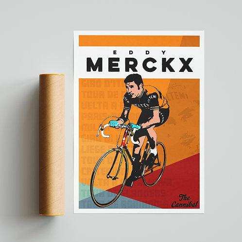 Eddy Merckx Cycling Print