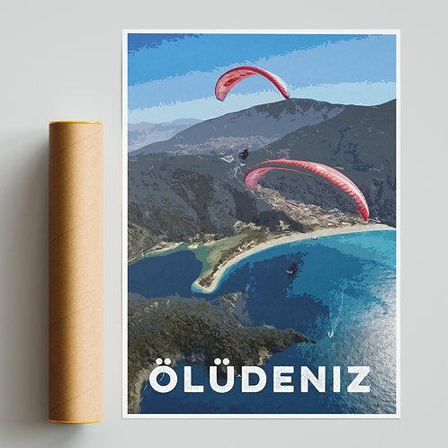 Oludeniz Paragliding Site Print
