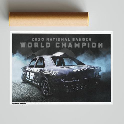 Sid Madgwick Banger World Champion Print