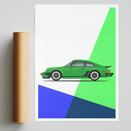 Classic Porsche 911 Retro Print
