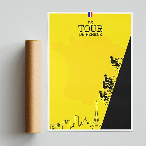 Tour de France Yellow Print Cycling