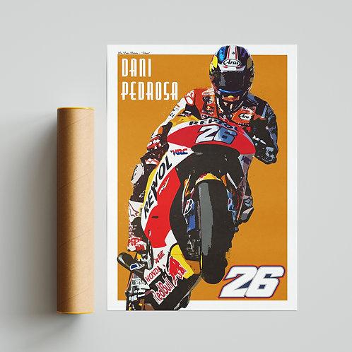 Dani Pedrosa Repsol Honda MotoGP Print