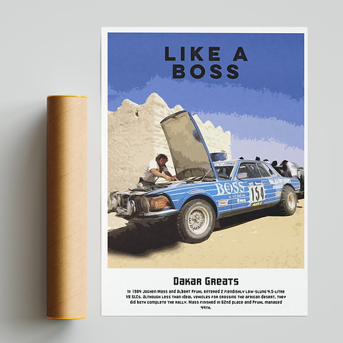 """Like a Boss"" - Custom Mercedes SLC Dakar Rally Print"