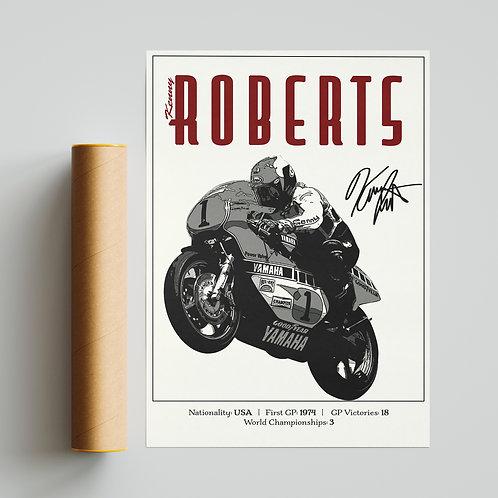 Kenny Roberts Classic 500GP Print MotoGP
