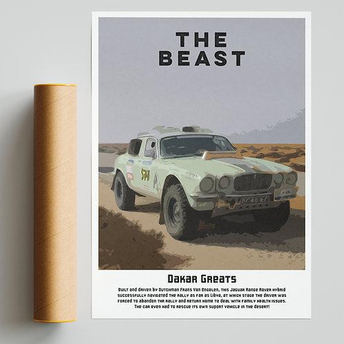 """The Beast"" - Custom Jaguar Dakar Rally Print"