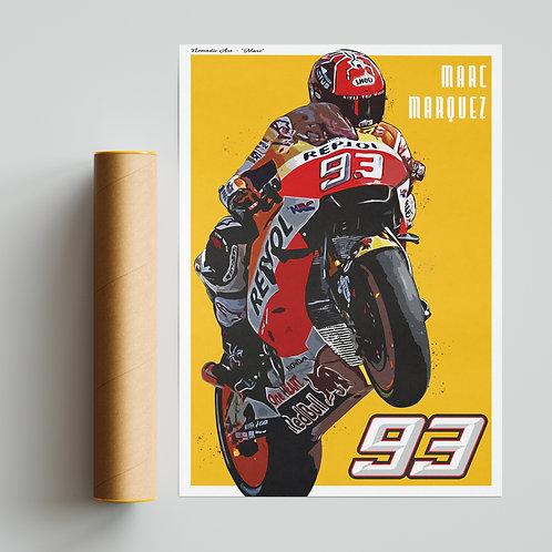 Marc Marquez Repsol Honda Print MotoGP