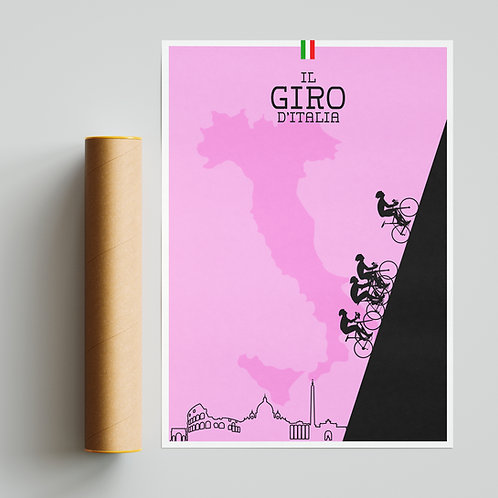 Giro D'Italia Pink Print Cycling