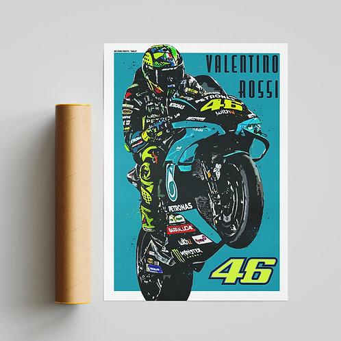 Valentino Rossi Petronas Yamaha Print MotoGP