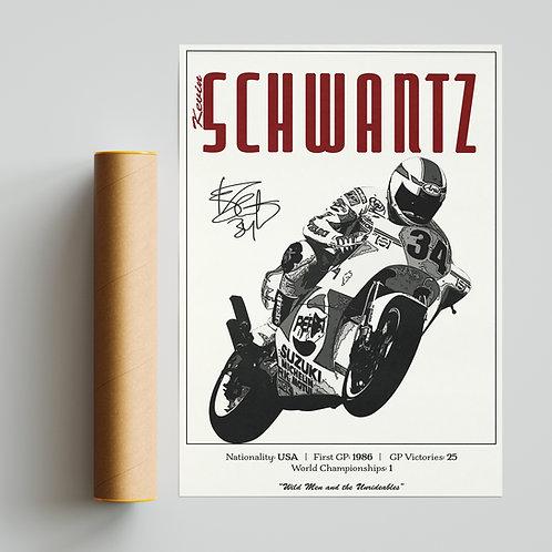 Kevin Schwantz Classic 500GP Print MotoGP