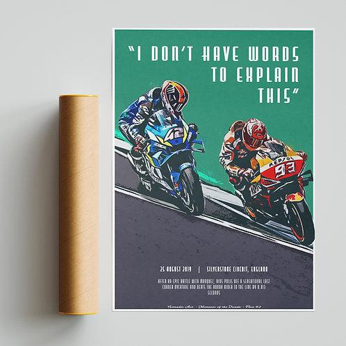 Alex Rins Marc Marquez Silverstone  Print MotoGP
