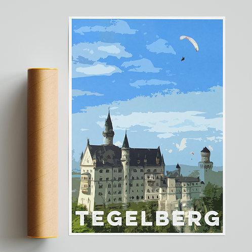 Tegelberg Castle Paragliding Site Print