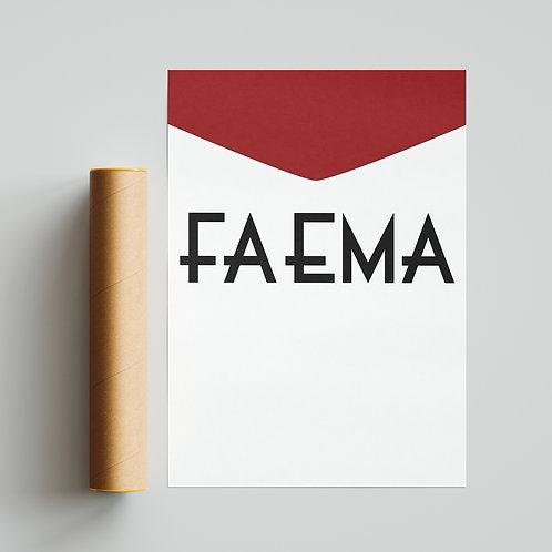 Faema Cycling Team Jersey Print